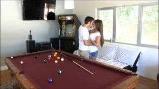 PornPros Hot Little Brunette Abby Cross Plays With Some Cock